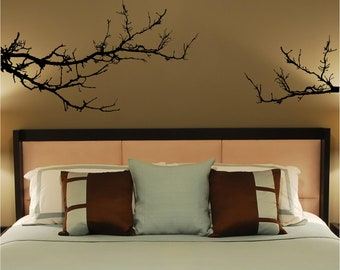 Two Piece Tree Branch vinyl wall decal wall art
