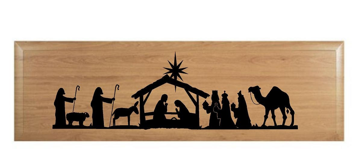 Items similar to Nativity Scene-fits in 8x20 frame or piece of wood on ...