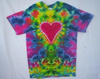Childrens-Heart Tie Dye Size Youth Medium