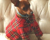 Red Plaid Dog Shirt