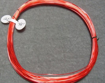 45 Feet of 22 gauge Red Colored over Copper Zeba Wire  (722)