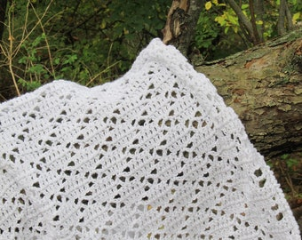 easy crochet pattern - lace afghan in 4 sizes - Valley Bridge