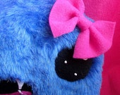 Hairy Mary - Furry Blue Girly Plush Monster