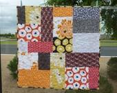HUGE SALE  Modern Patchwork Baby Quilt Fabrics by Violet Craft