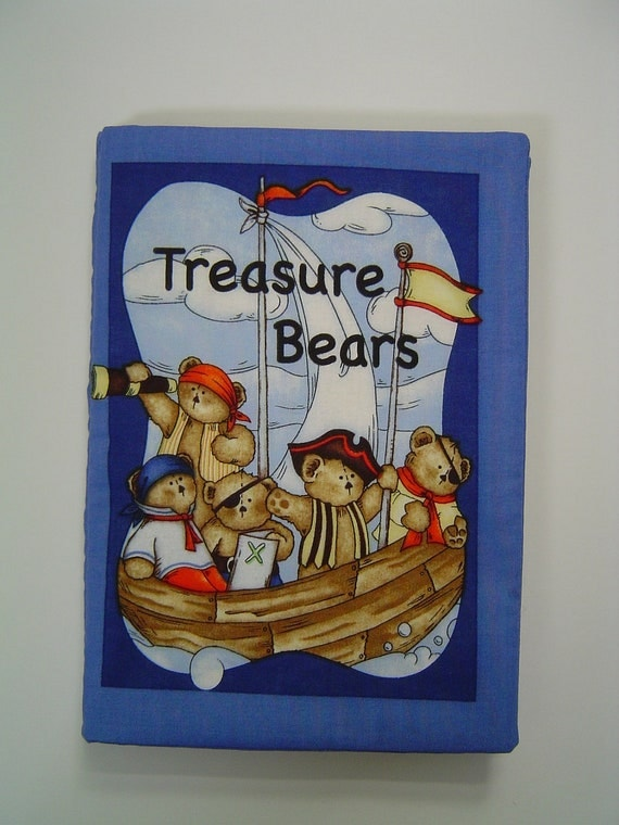 Cloth  Book Treasure Bears All cotton baby book