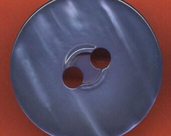 Vintage Huge Royal Blue Moonglow Button 38mm  GR3