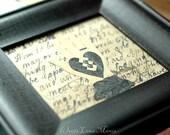 19th Century Style Black Heart in Hand Love Token for Engagement, Wedding, Anniversary, Friendship - Under 50