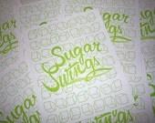 Sugar Swings Green Sugarcube Letterpress Kitchen Print