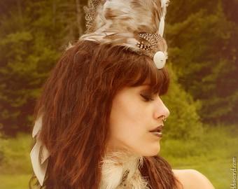 Natural Guinea Plumage Feather Mohawk