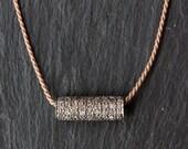 """Pavé Diamond Bar Necklace- As seen in """"Lucky"""" Magazine"""