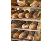 French Bread Photo, Baguette Photograph, Food Photography, Still Life Photo, Bakery Rack, Kitchen Wall Decor, 5x7 Fine Art Photograph