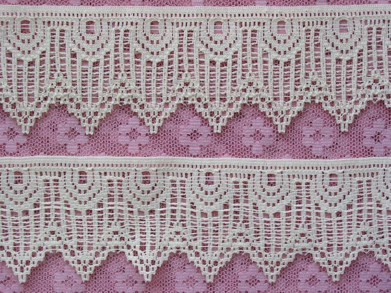 "3 1/2 Yard of this Gorgeous Cream lace trim that measures 1 3/4"" to the point."