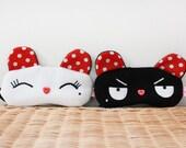 FREE SHIPPING! 2 Sleeping Eye Masks - Krunch and Minky Bear