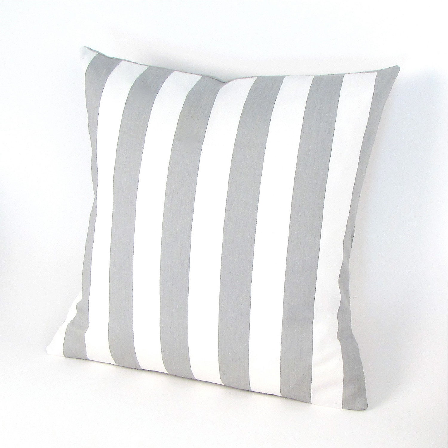 Gray and White Stripe Pillow Cover Grey Stripe Pillow Toss