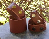 Leather Bracelets FOUR supple wine leather cuffs Ready To Ship Below Wholesale CB4