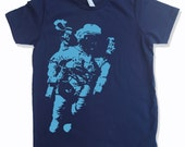 Kids Tee SPACEMAN Astronaut Shirt - American Apparel Sizes 2 4 6 8 10  12 - FREE Shipping