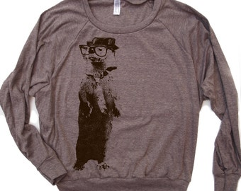 Womens Urban OTTER Tri-Blend Pullover - american apparel S M L (5 Color Options)