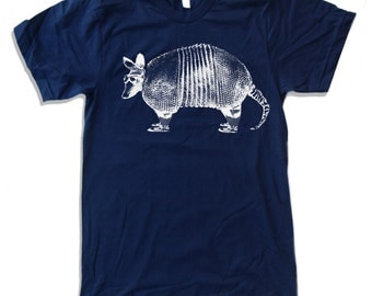 Mens ARMADILLO T Shirt american apparel S M L XL (11 Colors Available)