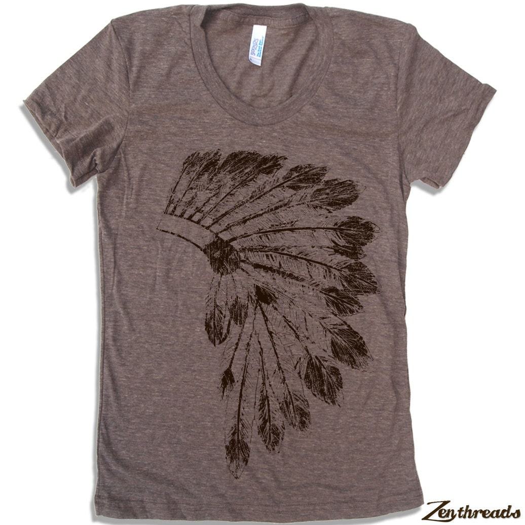 Womens native american headdress american apparel t by for American apparel custom t shirts