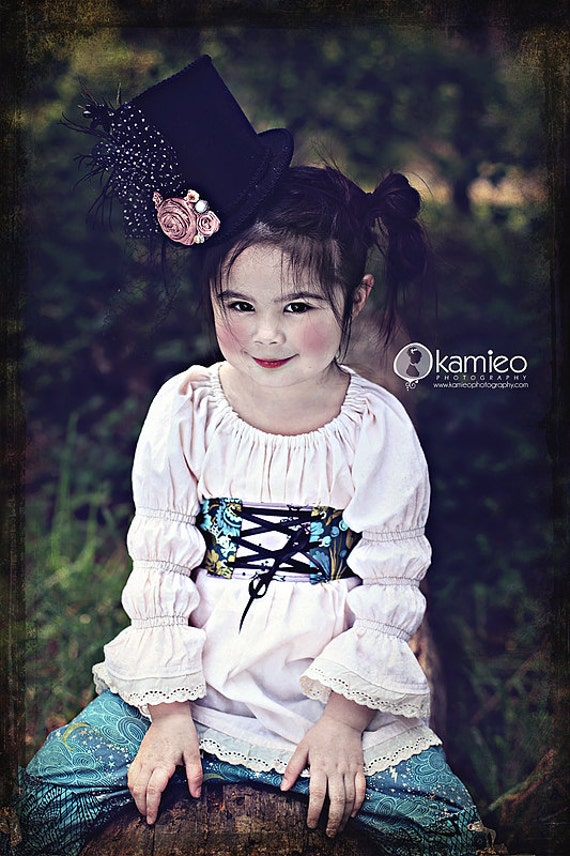 NEW 2012 FALL, Cream Tea Stained GIRLS Peasant Top Blouse by Peepz n Pretzelz 6m - 6yr