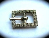 Mini Vintage Rhinestone Doll Belt Buckle