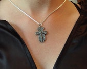 NEW Cross In Solid Silver Saint Francis of Assisi San Damiano  Crucifix  Made in Canada