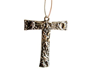 Reserve for  Susan Tau cross of St Francis    St .Francis Franciscan  solid sterling silver