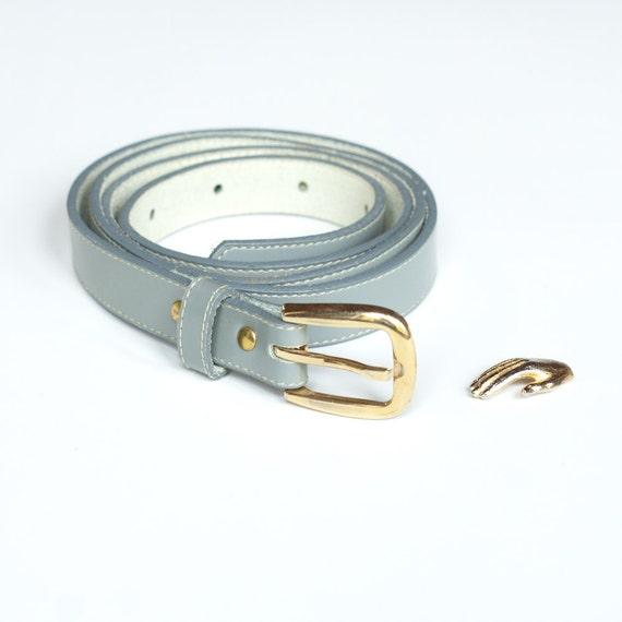 Thin Gray Belt - M/L - Fashion Basic Vintage Womens Accessory