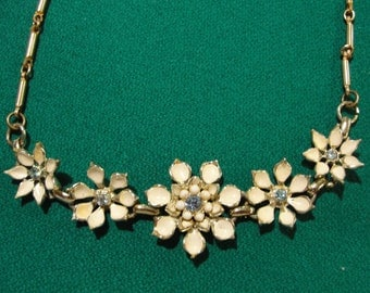 Vintage wedding coro necklace