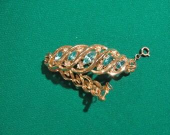 Vintage coro bracelet turquise stones recycled