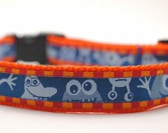 Monster Dog Collar / Funky Monsters - Custom Dog Collar