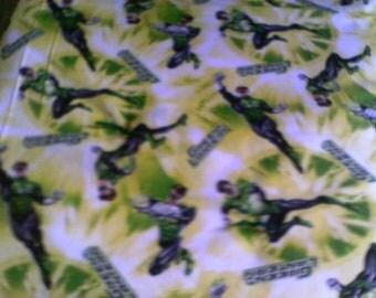 Cuddle Throw Quilt/Blanket Green Lantern