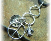 Unique Sterling Silver Thick Organic Smooth Infinity Charm Holder for Your Own Charms - Handmade to Order