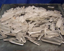 Quartz Crystal Points - 100 grams - raw rough crystals - clear quartz points white stone - small to medium - wire wrap supply coyoterainbow