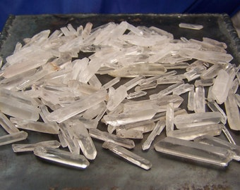 Quartz Crystal Points - 100 grams - raw rough crystals - clear quartz points white stone - small to medium - wire wrap supply bulk wholesale
