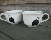 Little Bunny Mugs - Set of two on white