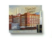 SWEET DOMINO SUGAR Refinery Baltimore - Giclée Print on Canvas
