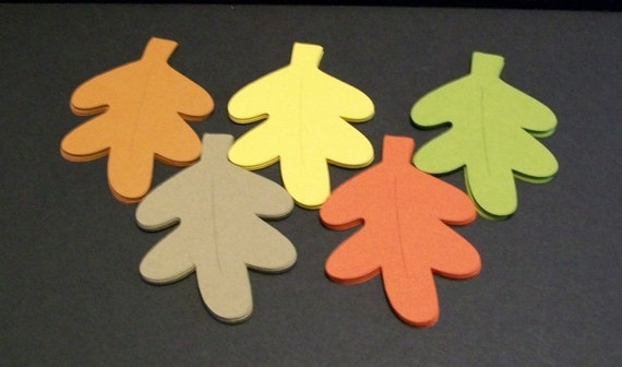 Autumn Leaf Die Cuts... Fall Leaves... leaf place cards... Wedding Place cards or Table numbers... Leaf Tags... Table Decorations...