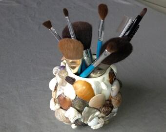 Small Ceramic Vase with Seashells