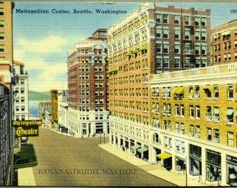1930s Postcard. Metropolitan Center, Seattle, Washington