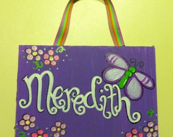 Butterfly and Flower Door Hanger