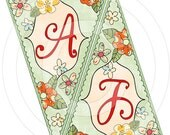 Pretty Posies Sophisticate Personalized Banner - digital file delivery