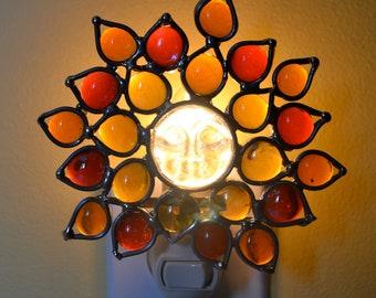 Bright Sun Stained Glass Nightlight