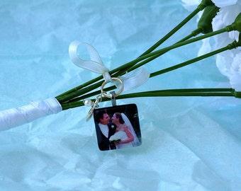 Bridal Bouquet Charms - Custom Photo Wedding Charms