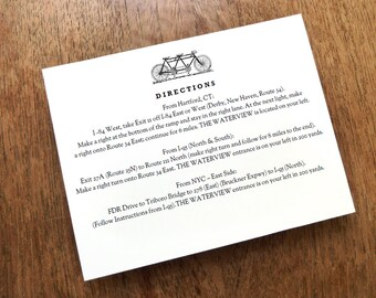 Tandem Wedding Information Card - Printable Blank Wedding Card - Black & White Tandem Bicycle Card - Direction Card - Registry Card
