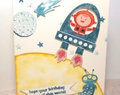 Hope your Birthday is out of this world  Greeting Card