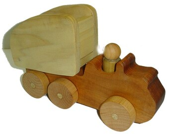 Waldorf Natural Hardwood Toy Dump Truck - Eco Friendly Ready to ship