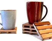 6 Coasters - Beverage Pallets - 6 drink coaster set - Coffee Cup / Wine Glass Coasters -
