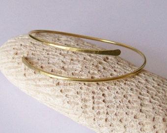 Upper Arm Bracelet - Arm Band - Minimalist Smooth Armband - Upper Arm Cuff - Armlet - Brass - Bronze - Copper - German Silver