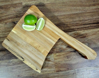 ON SALE - Meat Cleaver Cutting Board - Maple Butcher's Block